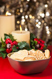 Christmas cookies, short bread in festive setting Stock Image