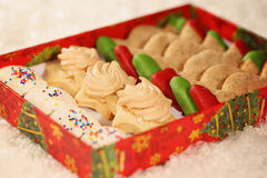Christmas cookies with snow Stock Photo