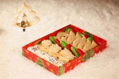 Christmas cookies with snow Royalty Free Stock Photo