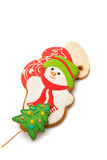 Christmas cookies with a snowman Royalty Free Stock Image