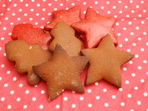 Christmas Cookies. Some christmas cookies with chocolate royalty free stock image