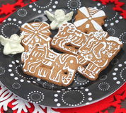 Christmas cookies. Some christmas cookies with chocolate and sugar royalty free stock photo