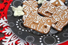 Christmas cookies. Some christmas cookies with chocolate and sugar royalty free stock image
