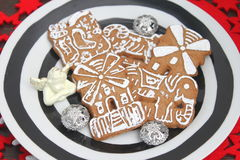 Christmas cookies. Some christmas cookies with chocolate and sugar royalty free stock photography