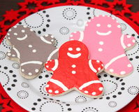Christmas cookies. Some christmas cookies with chocolate and sugar royalty free stock photos