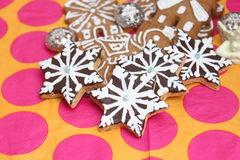 Christmas cookies. Some christmas cookies with sprinkles royalty free stock photo