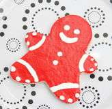 Christmas cookies. Some christmas cookies with sprinkles royalty free stock image