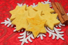 Christmas cookies. Some christmas cookies with sprinkles royalty free stock photos