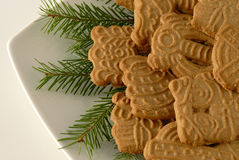 Christmas cookies Spekulatius Royalty Free Stock Image