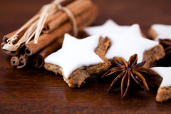 Christmas cookies with spices Royalty Free Stock Images