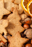 Christmas cookies and spices Stock Photo