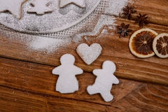 Christmas cookies with spices and sugar Royalty Free Stock Photography