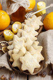 Christmas cookies in star shape Stock Photography