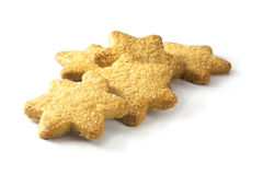 Christmas cookies in star shape isolated on a white background Stock Image