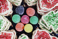 Christmas cookies and Sugar Candy Royalty Free Stock Image