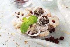 Christmas cookies and sweets Stock Images