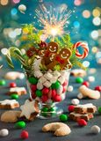 Christmas cookies and sweets . Royalty Free Stock Image