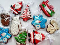 Christmas Cookies. The symbol of the New year and Christmas. The interior of the New Year. royalty free stock images