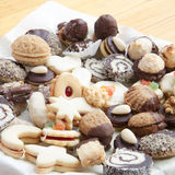 Christmas cookies on the table. Assorted christmas cookies on the table Royalty Free Stock Images