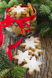 Christmas cookies on the table. Blanks for Christmas cookies on the table Royalty Free Stock Photo