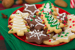 Christmas cookies. On the table close up stock photos