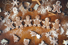 Christmas cookies on a table. Christmas cookies on a dark table Stock Images