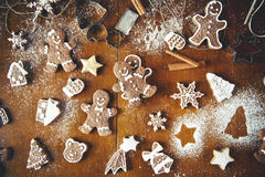 Christmas cookies on a table. Christmas cookies on a dark table Stock Photography