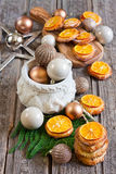 Christmas cookies with tangerine Royalty Free Stock Images
