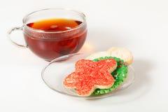 Christmas Cookies and Tea Stock Photo