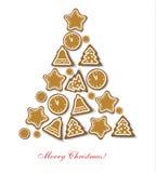 Christmas cookies tree. Stock Photo
