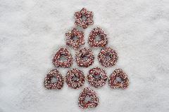 Christmas cookies tree Royalty Free Stock Photos