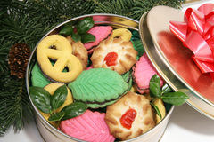 Christmas Cookies Under the Tree Royalty Free Stock Photography