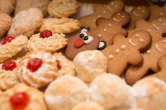 Christmas cookies of various shapes Stock Photo