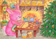 Christmas cookies royalty free illustration