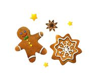 Christmas cookies. Watercolor illustration Stock Photography