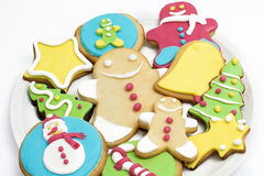 Christmas cookies on white background Royalty Free Stock Images