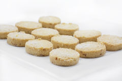 Christmas Cookies on a white plate Stock Photos