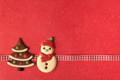 Free Christmas Cookies With Beautiful Ribbon Royalty Free Stock Photo - 22565505