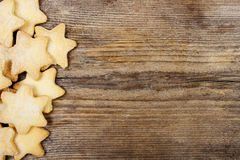 Christmas cookies on wooden background Royalty Free Stock Photography