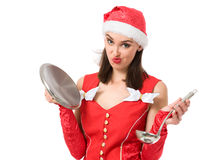 Christmas cooking Stock Images