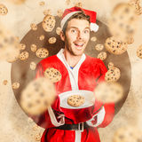 Christmas cooking elf with cookies treats Royalty Free Stock Image