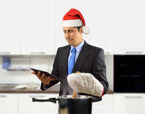 Christmas cooking online Royalty Free Stock Photos