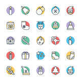 Christmas Cool Vector Icons 1 Royalty Free Stock Photo