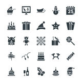 Christmas Cool Vector Icons 4. Merry Christmas!  This icons set of Christmas is full of fun and celebration. It includes Santa Claus, Christmas stocking Stock Photography