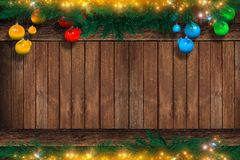 Christmas Copyspace on Wood Royalty Free Stock Image