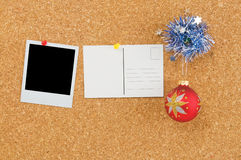 Christmas cork board Stock Photography