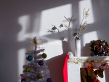 Christmas corner at day light Stock Images
