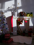 Christmas corner at day light Royalty Free Stock Photography