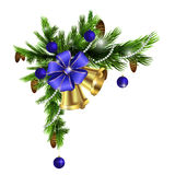Christmas corner decorations  Royalty Free Stock Images