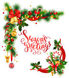 Christmas corner design Stock Images